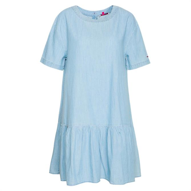 Tommy Jeans Cropped Waist Cotton Dress