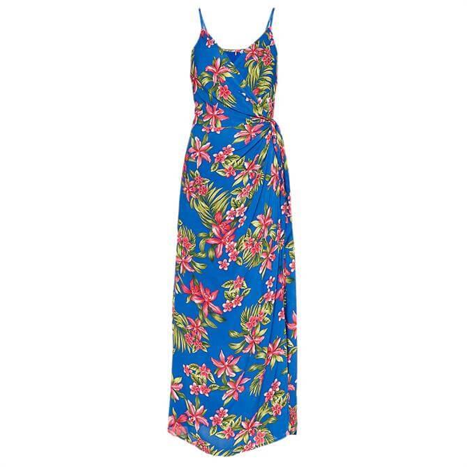 Tommy Hilfiger Hallie Tropical Print Wrap Dress