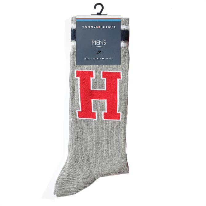 Tommy Hilfiger 2-Pack Monogram Logo Socks