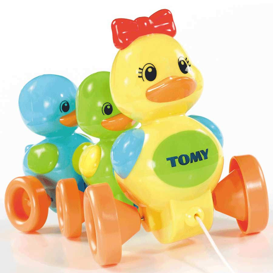 An image of Tomy Quack Along Ducks - 4613