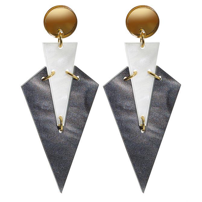 Toolally Art Deco Droplets Earrings