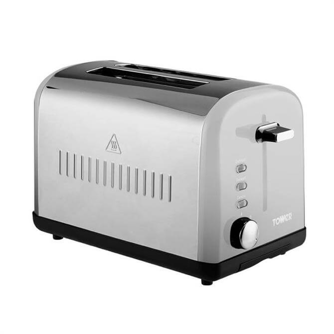 Tower 2 Slice Toaster: Stainless Steel