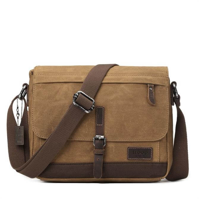 Troop London Heritage Canvas Messenger Bag