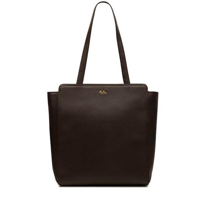 Tula Brown Nappa Originals Large Tote Bag