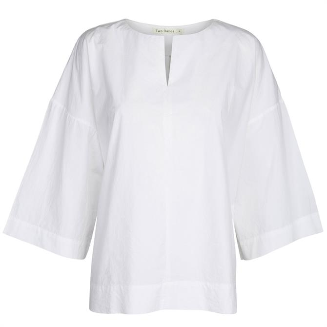 Two Danes Dine ¾ Sleeve 100% Cotton Tunic Top