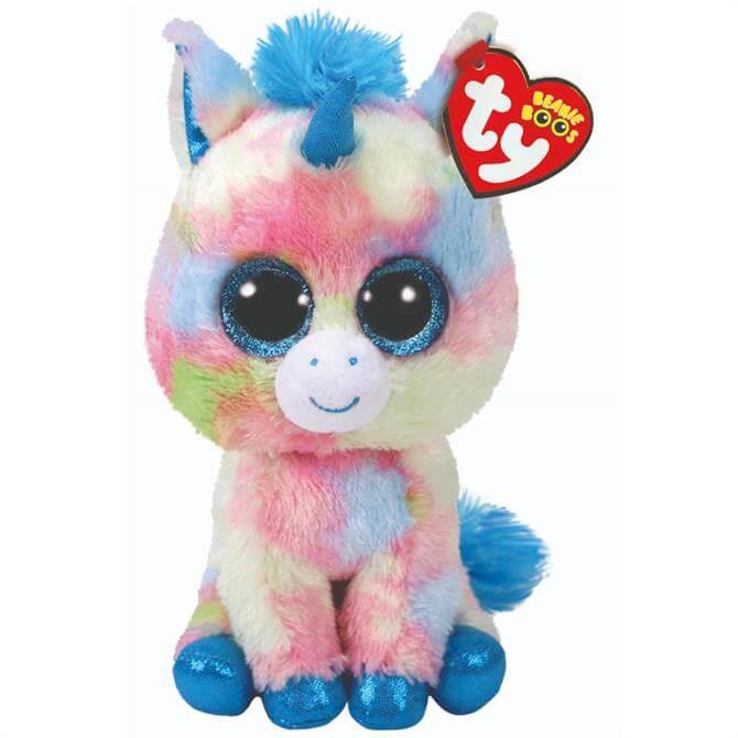 Ty Blitz Blue Unicorn Boo Buddy