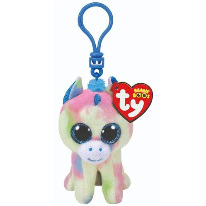 Ty Blitz Blue Unicorn Boo Key Clip