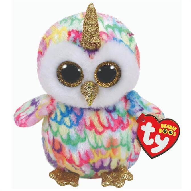 Ty Enchanted Owl With Horn Beanie Boo