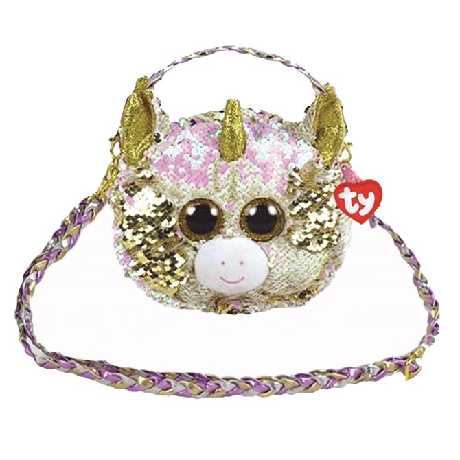 Ty Flippable Fantasia Unicorn Shoulder Bag