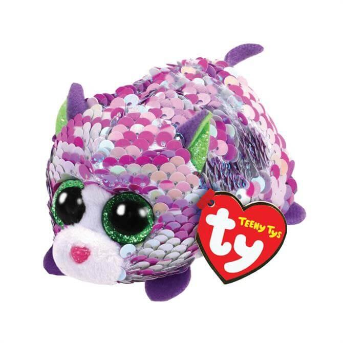 TY Teeny Flippable Lilac Cat