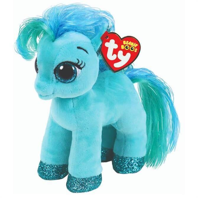 Ty Topaz Teal Pony Beanie Boo