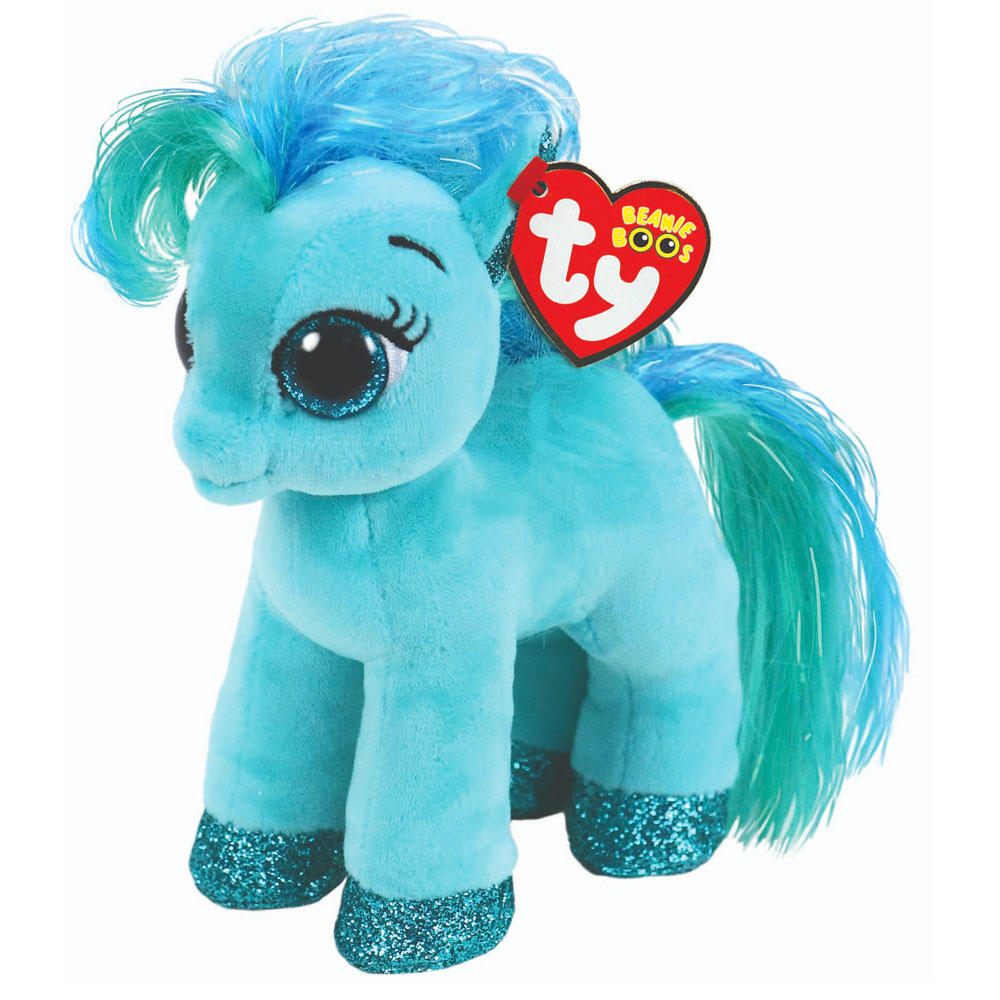 An image of Ty Topaz Teal Pony Beanie Boo