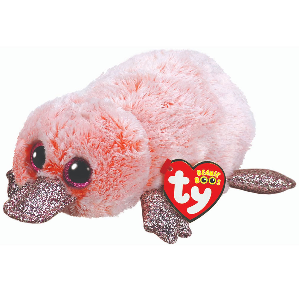 An image of Ty Wilma Pink Platypus Beanie Boo