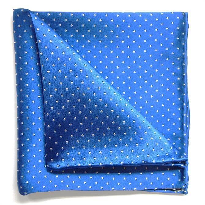 Tyler & Tyler Spot Silk Pocket Square