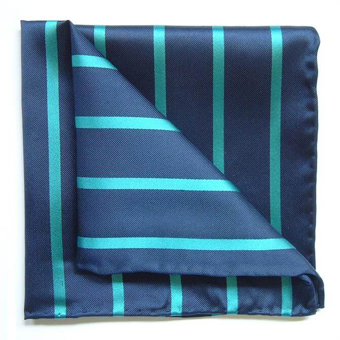 Tyler & Tyler Bold Stripe Silk Pocket Square