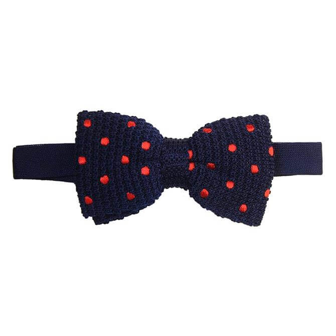 Tyler & Tyler Knitted Silk Bow Tie