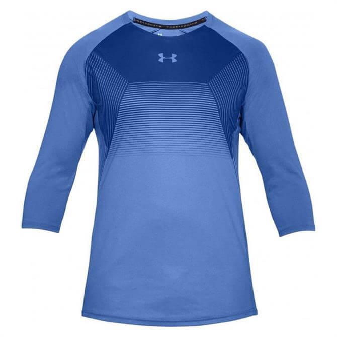 Under Armour Men's Vanish 3/4 Sleeve T-Shirt- Blue