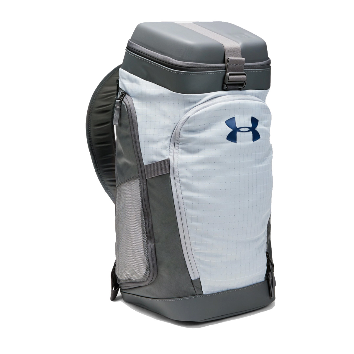 An image of Under Armour Own The Gym Duffle Bag – Mod Grey - OSFA, MOD GRAY-GRAPHITE-PETRO...