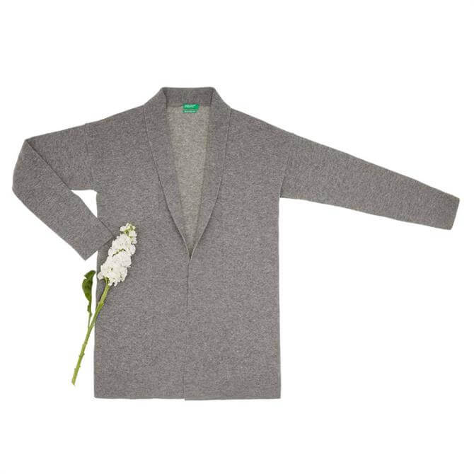 United Colors of Benetton Virgin Wool Open Cardigan