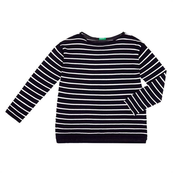 United Colors of Benetton Striped Cotton Sweater