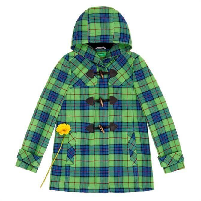 United Colours of Benetton Tartan Duffle Coat