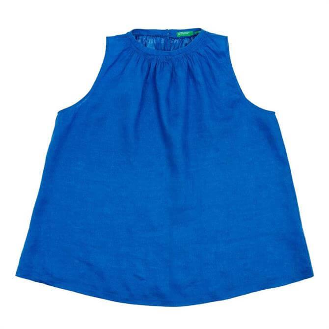 United Colors of Benetton Sleeveless Linen Blouse