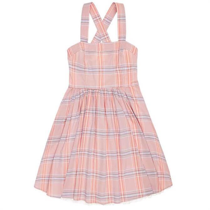 United Colours of Benetton Madras Check Sleeveless Summer Dress