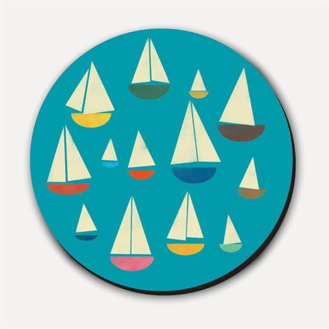 Blanca Gomez Sailboats Coaster