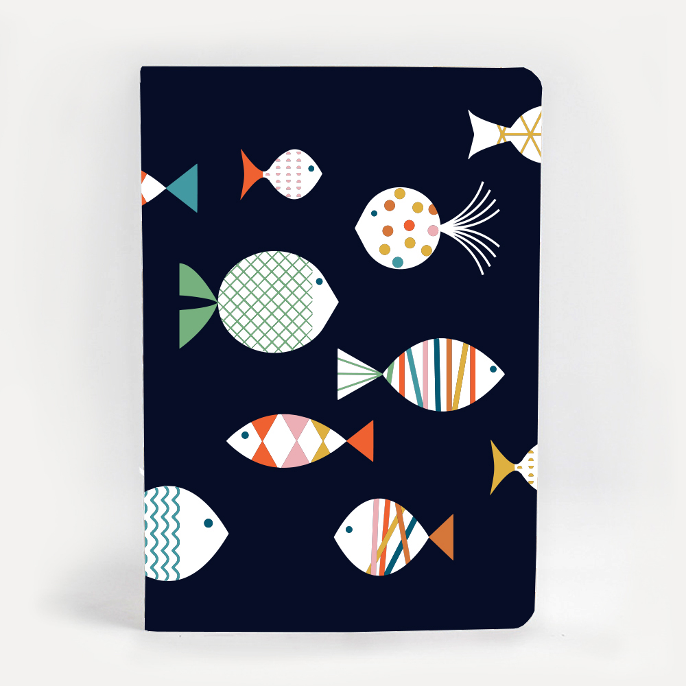An image of Blanca Gomez Fish A5 Notebook