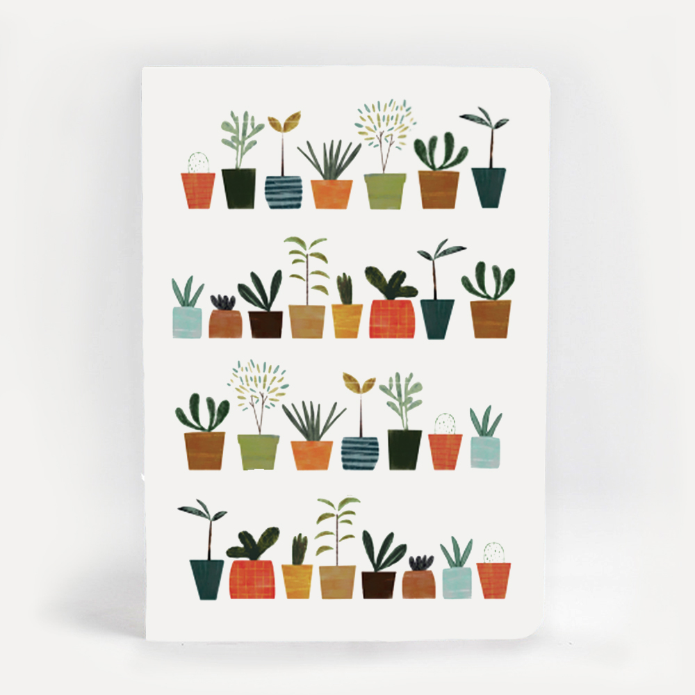 An image of Blanca Gomez Little Plants A5 Notebook