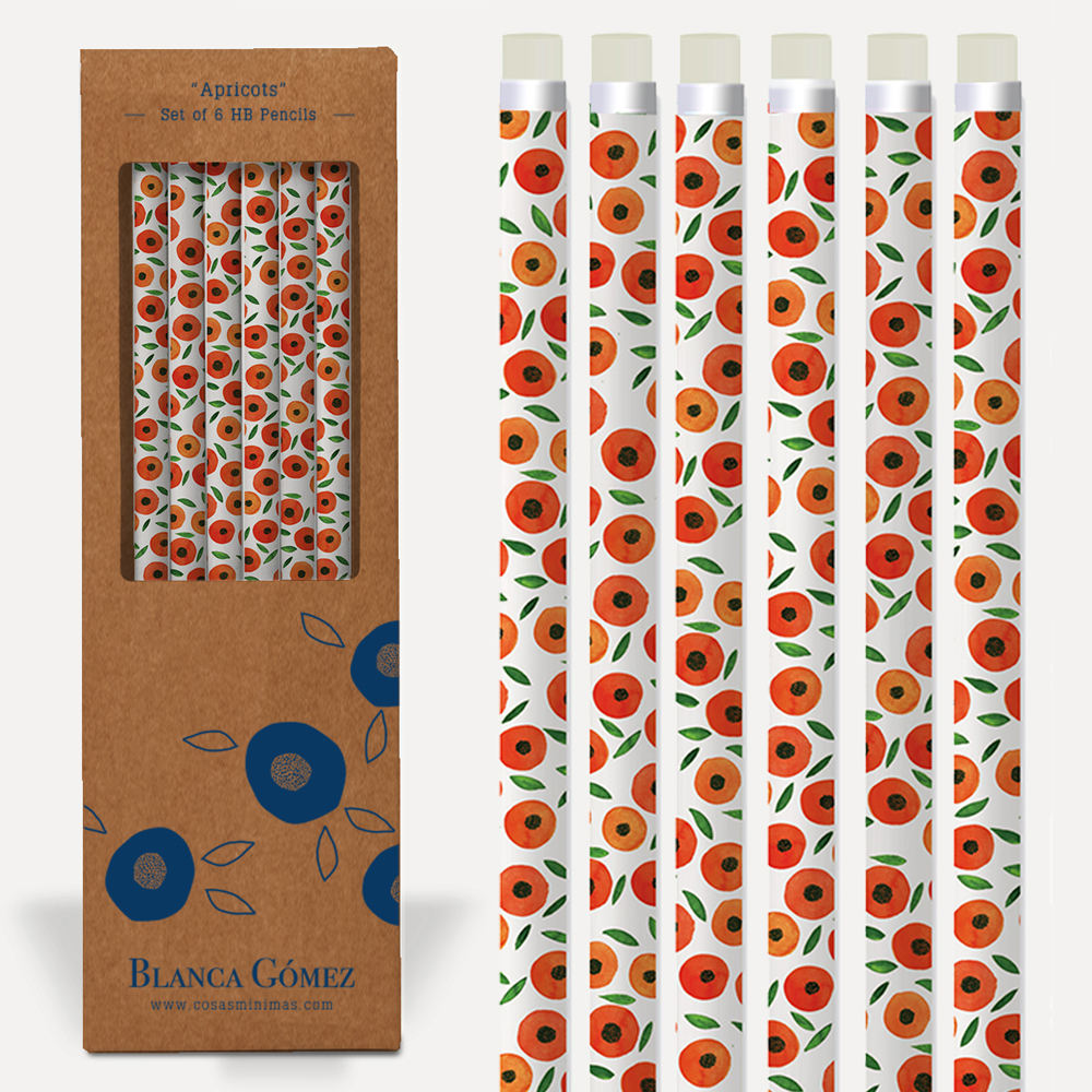 An image of Blanca Gomez Apricots Set of 6 HP Pencils