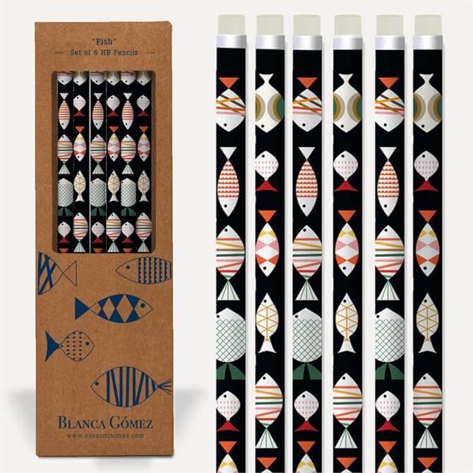 Blanca Gomez Fish Set of 6 HP Pencils