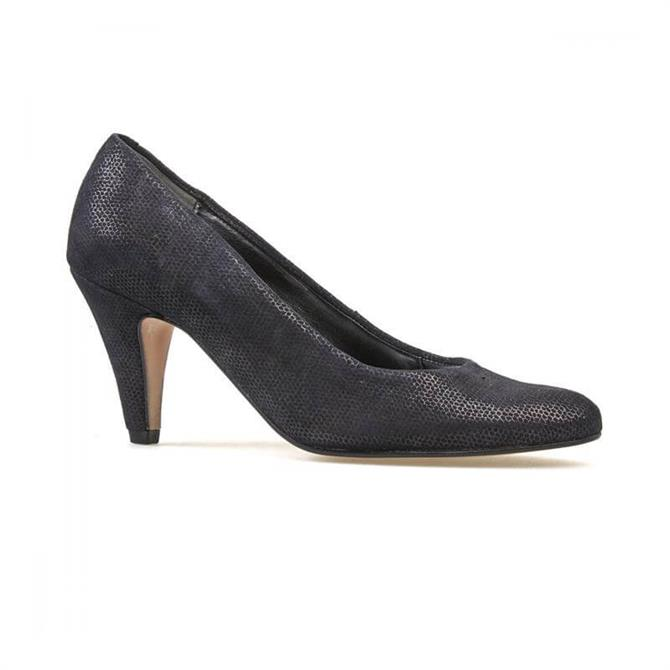 Van Dal Women's Holt Black Beetle Print Court Shoe