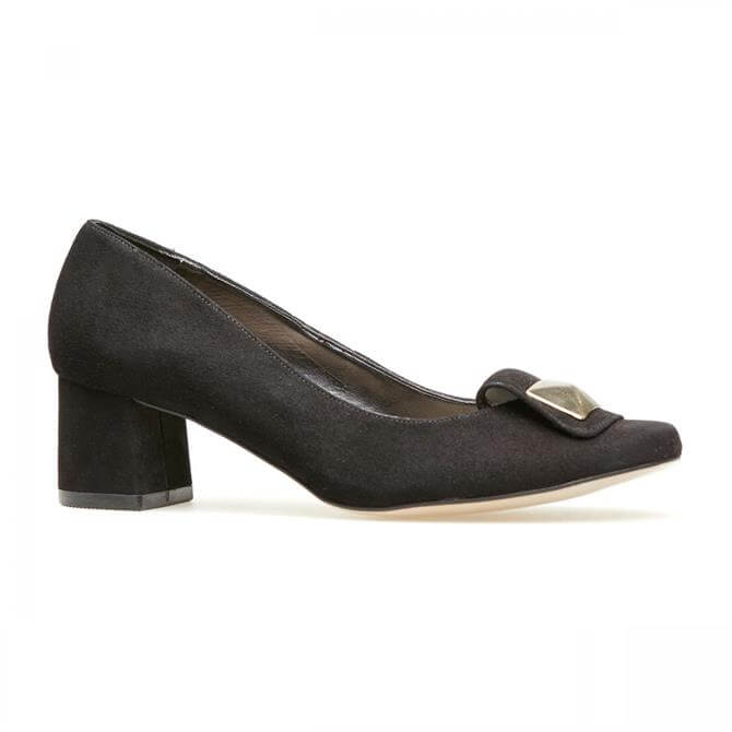 Van Dal Women's Opie Black Suede Court Shoes