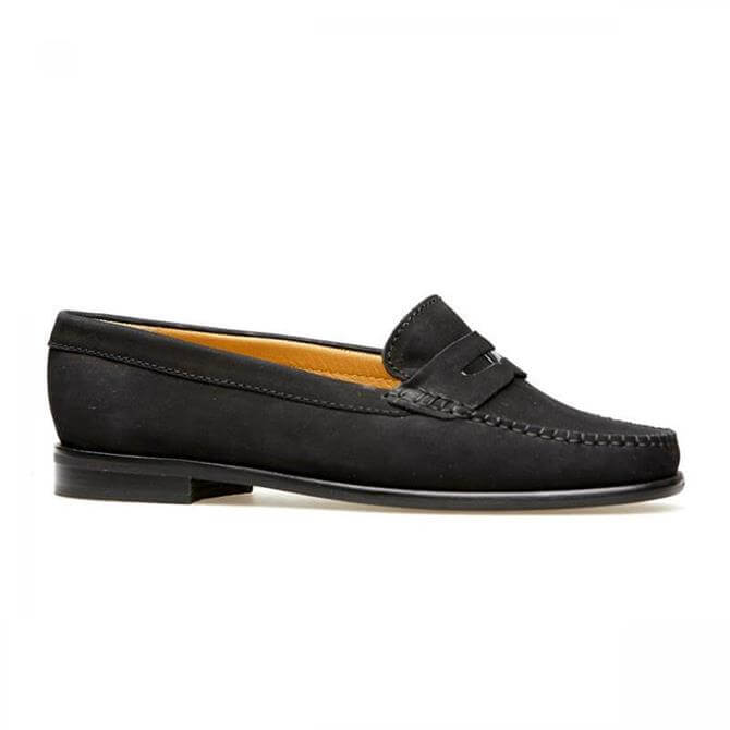 Van Dal Women's Hampden X Black Nubuck Loafer