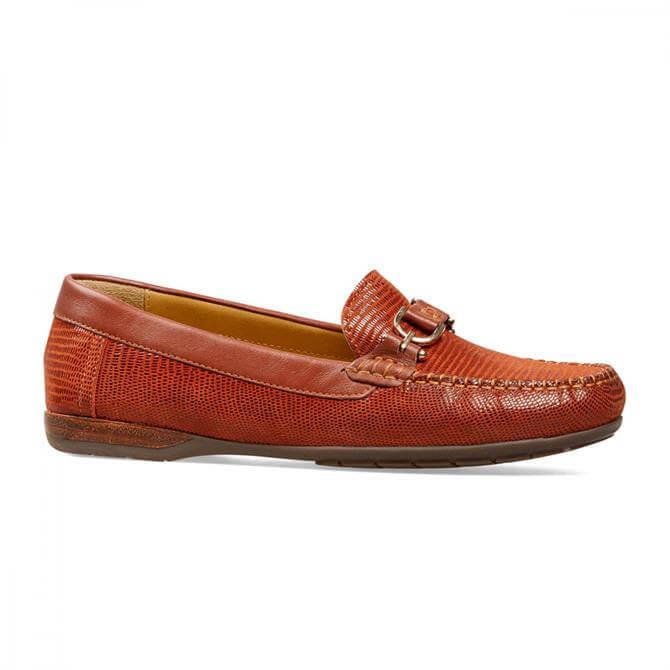 Van Dal Women's Bliss Paprika Reptile Loafers