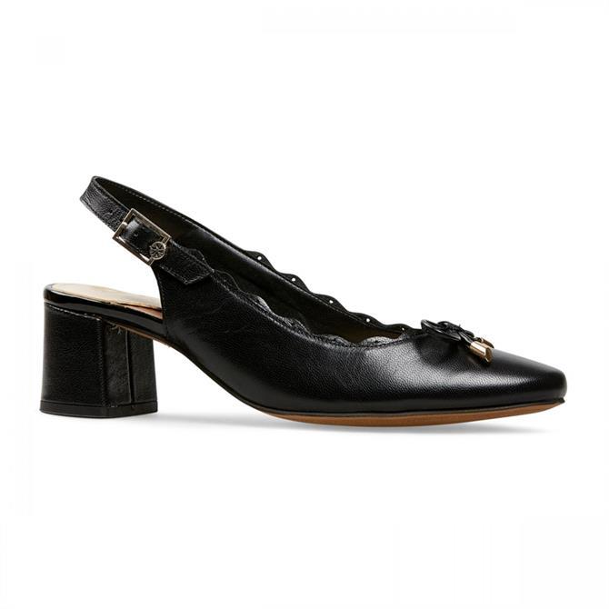 Van Dal Women's Hardy Black Leather Court