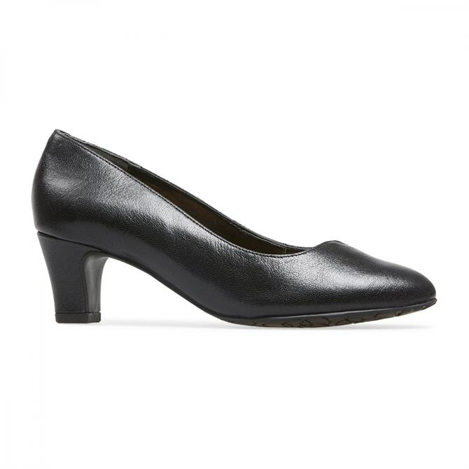 Van Dal Women's Plaza Wide Fitting Black Leather Court Shoe