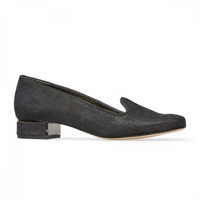 Van Dal Women's Belsize Black Beetle Block Heel Pump