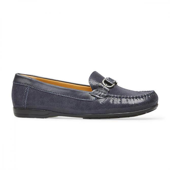 Van Dal Women's Bliss Navy Print Loafers