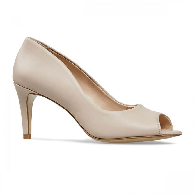 Van Dal Women's Heigham Cream Leather Peep Toe Court Shoe