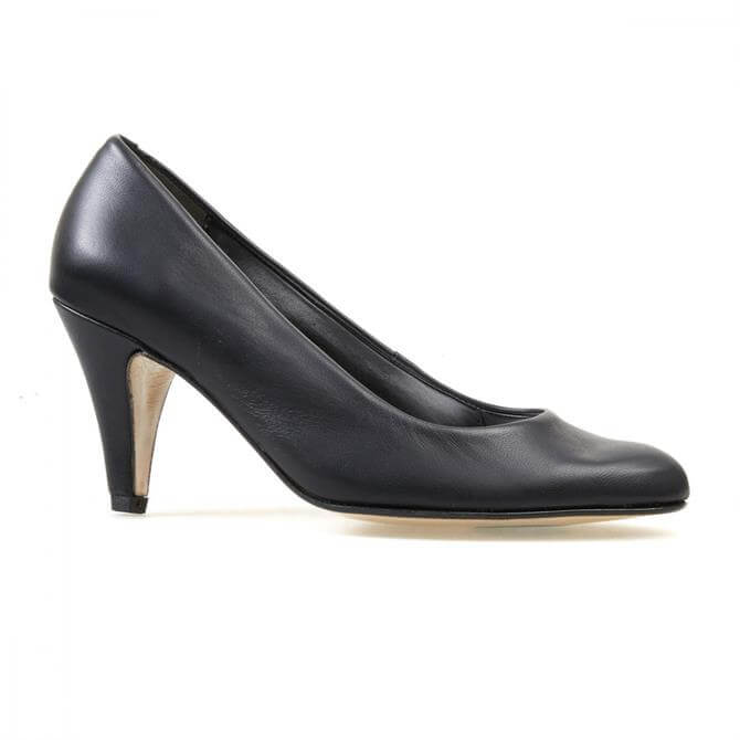 Van Dan Women's Holt Black Leather Court Shoe