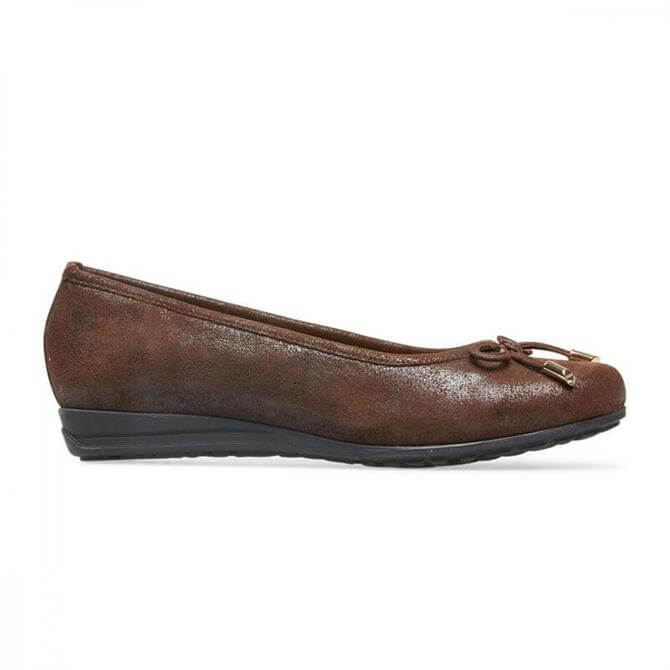 Van Dal Women's Medford Dark Brown Ballet Pumps