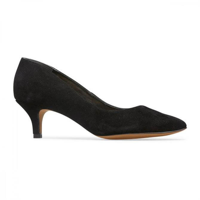 Van Dal Women's Nina Black Suede Kitten Heel Court