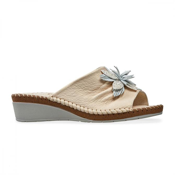 Van Dal Women's Banks Cream Leather Mule Sandal