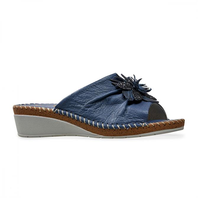 Van Dal Women's Banks Denim Blue Mule Sandal