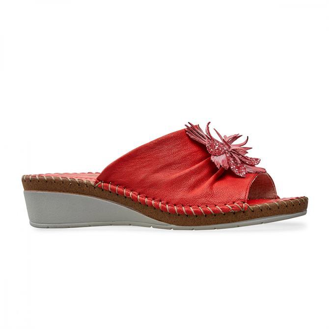 Van Dal Women's Banks Red Mule Sandal