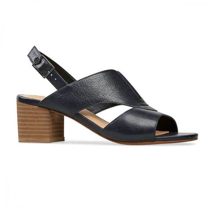 Van Dal Women's Ditton Peep Toe Midnight Sling Back Heel