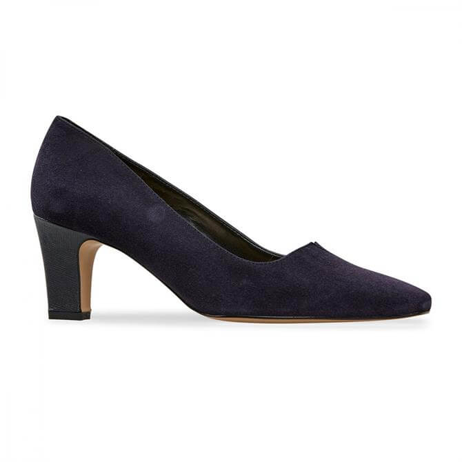 Van Dal Women's Ophelia Midnight Suede Wide Fit Court Shoe
