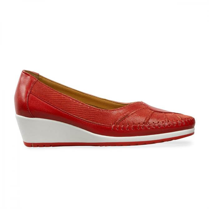 Van Dal Women's River Red Flame Leather Wedges